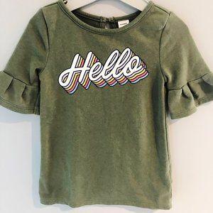 Old Navy olive green sweatshirt dress